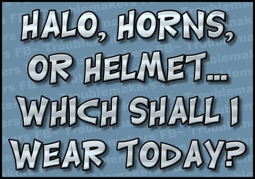 halo, horns, helmet