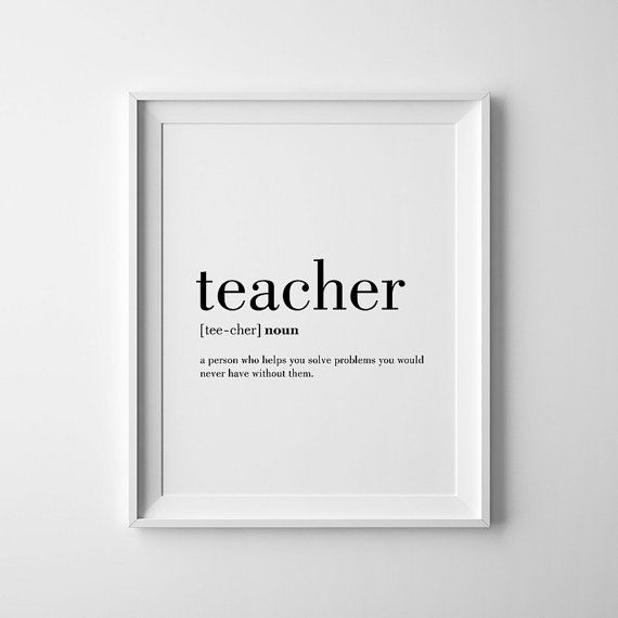 Teacher Quotes Teacher Wall Art Funny Teacher Gift by printabold