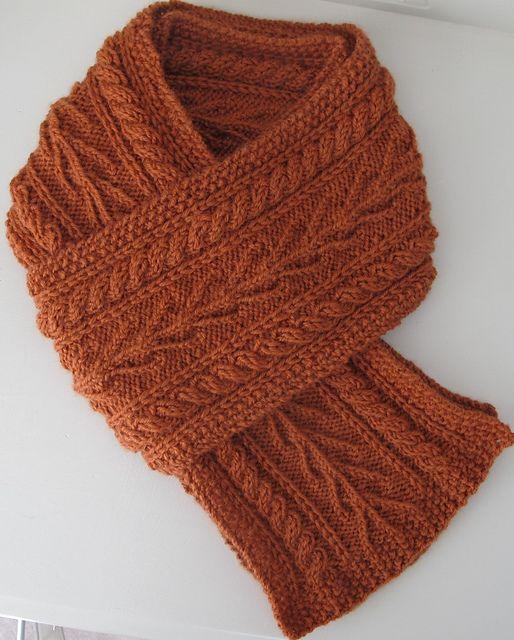 Aran Seaweed Scarf Pattern By Jane Reay Compulsive Knitter