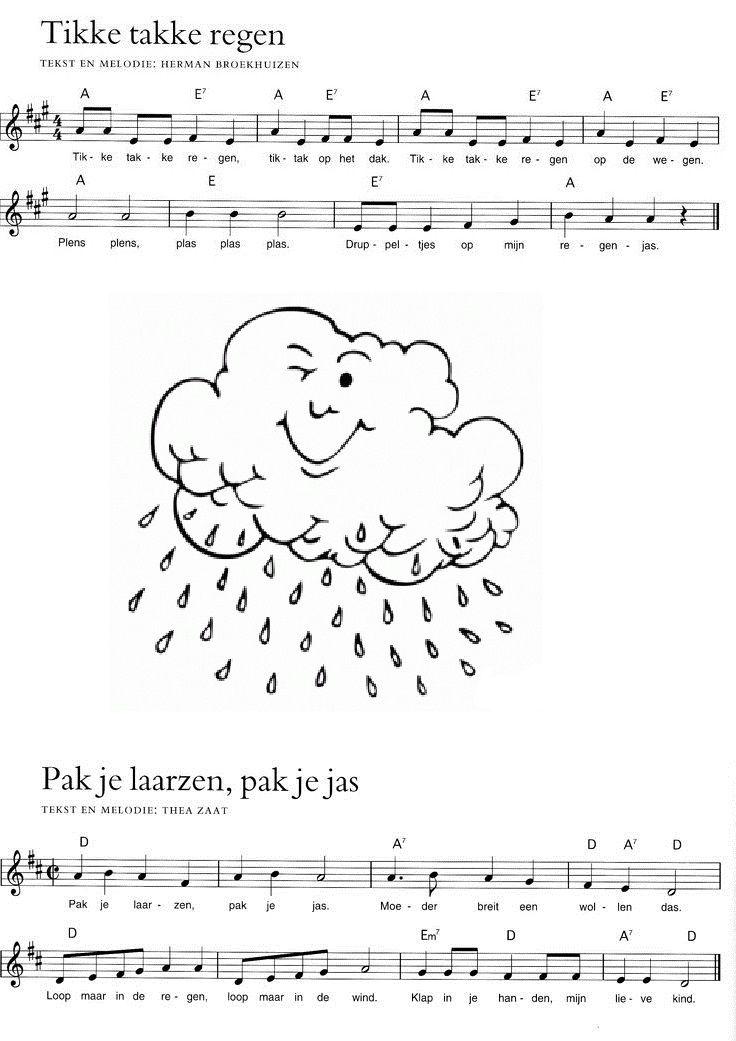 *▶ LIEDJE: Tikke takke regen... & Pak je laarzen...