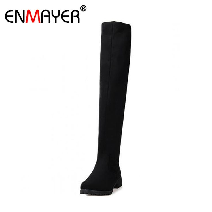 ENMAYER Motorcycle Boots Winter New Over Knee High Boots Sexy Fashion Boots for Women Sexy Snow Long Knight Boots Winter Shoes