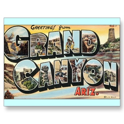 Grand Canyon Vintage Travel Postcard by TheTimeCapsule