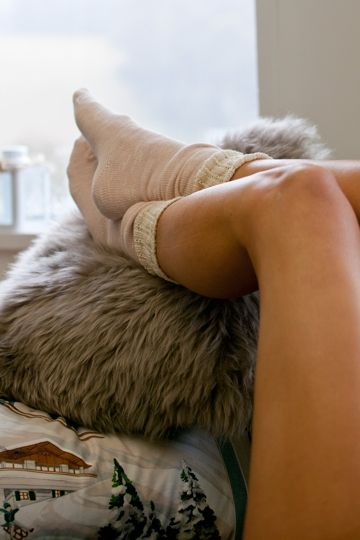 The Long Bed Socks from Papinelle are your new best friend this season. Perfect for wearing with chunky boots, or for snuggling up in bed on those cool nights.