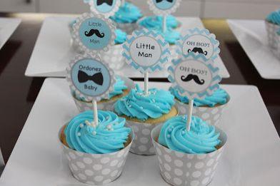 "DIY: ""Little Man"" Cupcake Toppers + free printables :)"