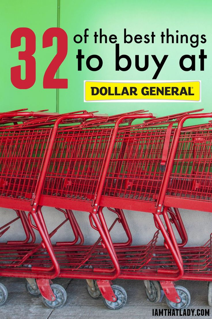 Wondering what to buy at Dollar General? Here are The 32 Best things to buy at Dollar General to save you money!