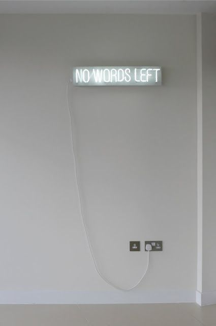 no words left | Neon lights | light up wall sign | home decor | art | typography