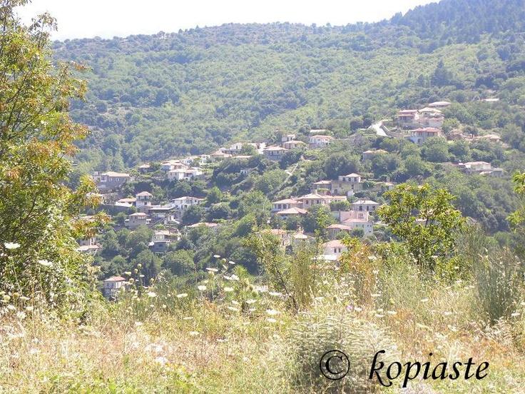 Vamvakou village on Parnonas mountain.