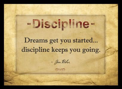 Discipline yourselves to get the results you want. For success to occur, you need discipline. Discipline to act appropriately and consistently. You cannot detach yourself from discipline and want to see success. Let this week be a new start for you.