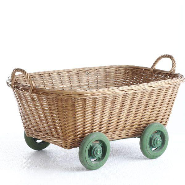 A Wheel-y Useful Basket - Wisteria | domino.com