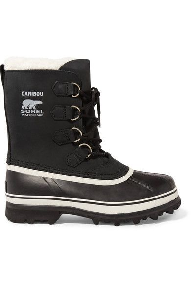 Sorel - Caribou Waterproof Leather And Rubber Boots - Black - US10.5