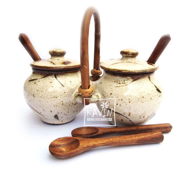 Stoneware Serving  Set
