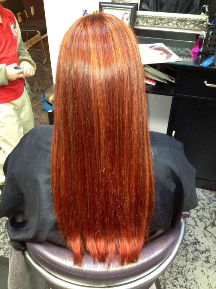 Cinnamon Basecolor And Curry Highlights Red Haircolor