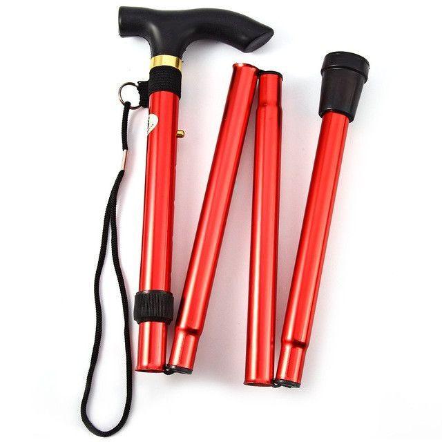 Adjustable Folding Cane Walking Stick with Non Slip Rubber Base Free Shipping