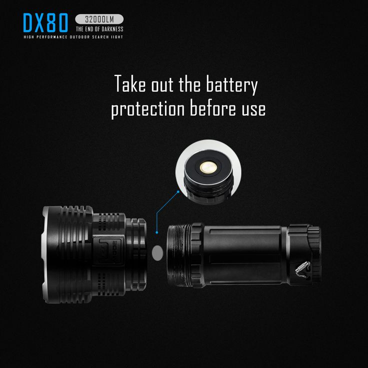 IMALENT DX80 8x XHP70.2 32000LM Super-Bright Outdooor Searching LED Flashlight 806M