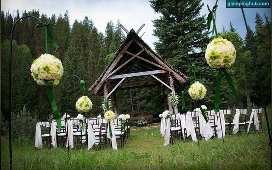 Glamping Wedding Ceremony idea #glamping #wedding