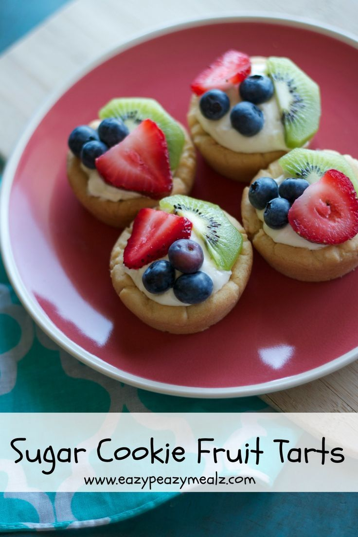 Sugar Cookie Fruit Tarts - a delicious, pop-in-your-mouth treat that is perfect for parties