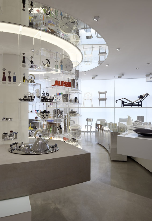 Tollman's Alessi flagship store at Project YOO, Tel-Aviv / Visual Concept and Design: Raphael Navot, Paris / Architect: David Lebenthal