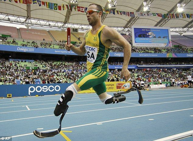 Blade runner Oscar Pistorius from South Africa. World record holder in 100, 200 and 400 metres.