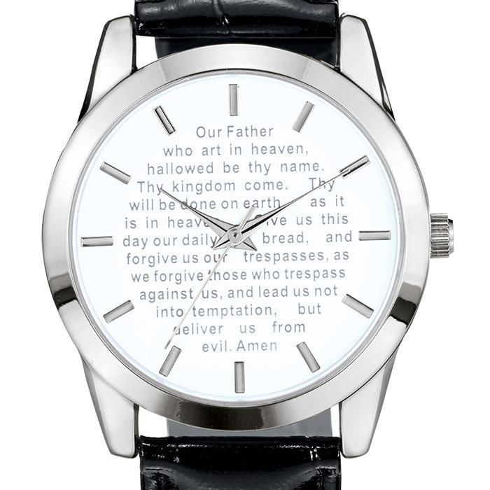 Men's Lord's Prayer Watch - For him! Men's inspirational jewelry is a constant top seller! This watch is the perfect gift for the special men in your life. Regularly $39.99 - Great Father's Day gift idea! Shop Avon Men's Watches at http://barbieb.avonrepresentative.com