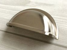 "3"" Drawer  Dresser Pulls Knobs Handles Shell Cup Bin Classic Cabinet Door Knob Pulls Kitchen Brushed Nickel Steel Silver 76 mm()"
