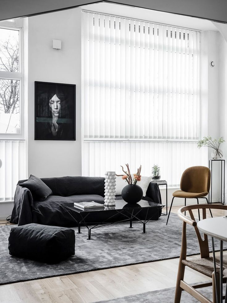 Living Room : High Contrast Sofa Corner Via Coco Lapine Design Blog