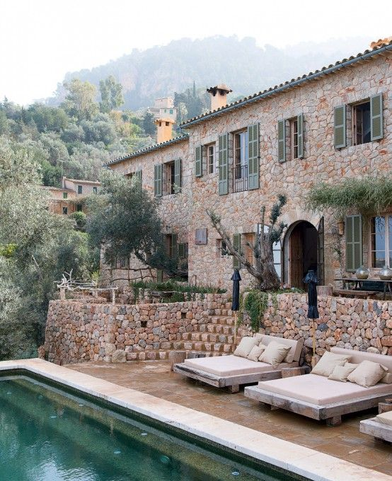 just a little country house.: Dreams Houses, Caves House, Stones Houses, Villas, Places, Outdoor Spaces, Pools, Houses Design, Alexandre