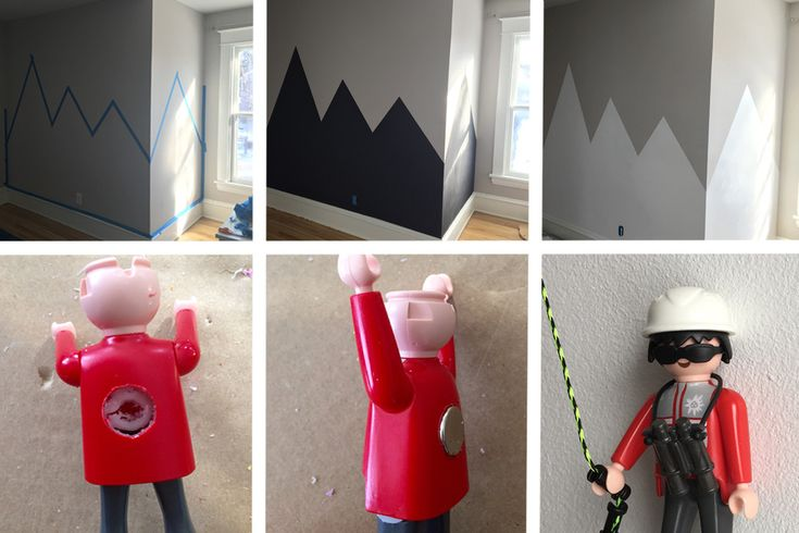 From blank wall, to magnetic mountains, to magnetic mountain climbers!