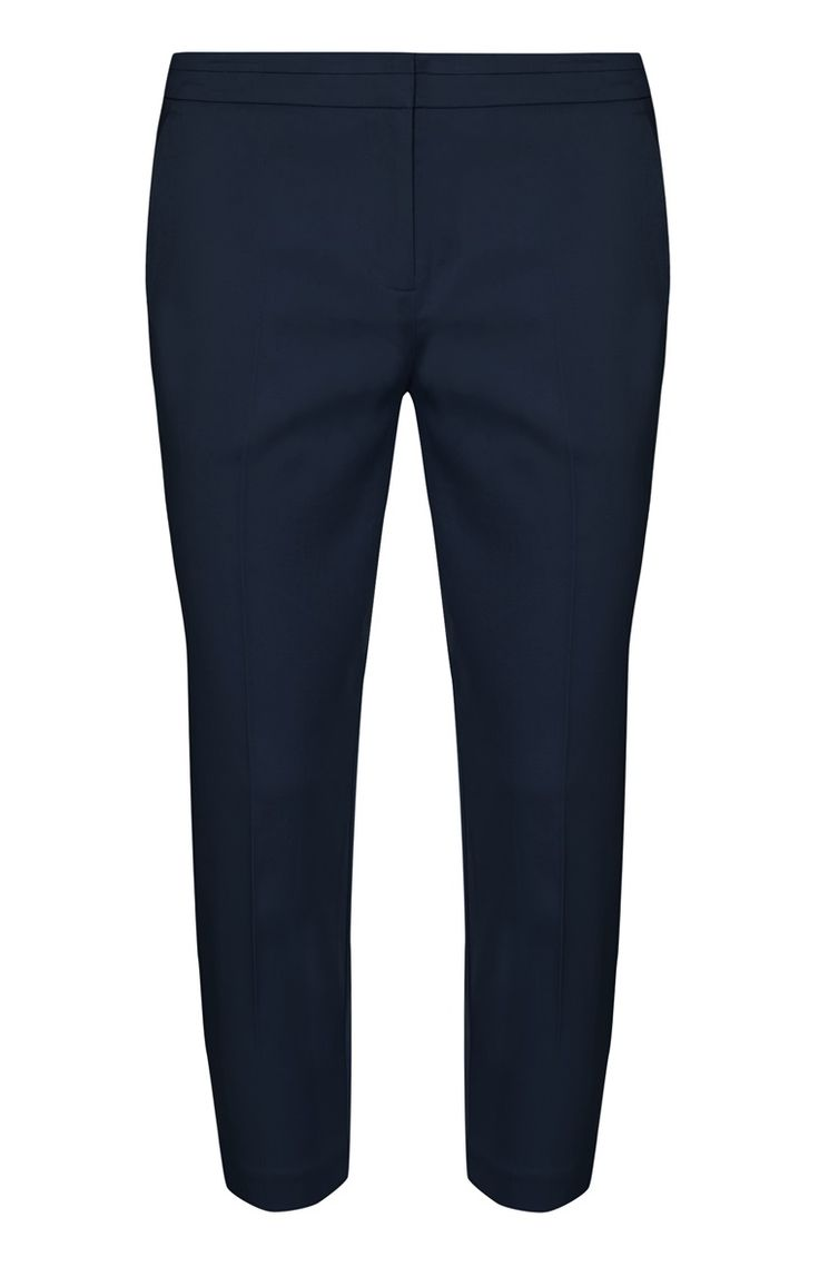 Primark - Navy Slim Fit Crop Trousers