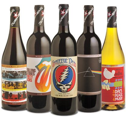 Wines That Rock - Great Tasting Wines Inspired by Rock Music - http://www.winesthatrock.com/# - With names like Synchronicity, Forty Licks and Dark Side of The Moon, how can you miss?