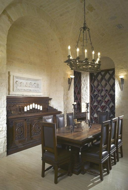 Wine cellar old world mediterranean italian spanish for Wine cellar pinterest