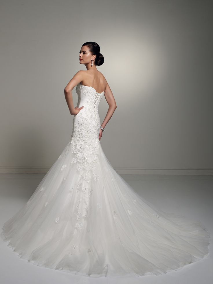 Sophia Tolli - Bridal  »  Style No. Y21246  »  Sophia Tolli This but without the bling, the lace is enough