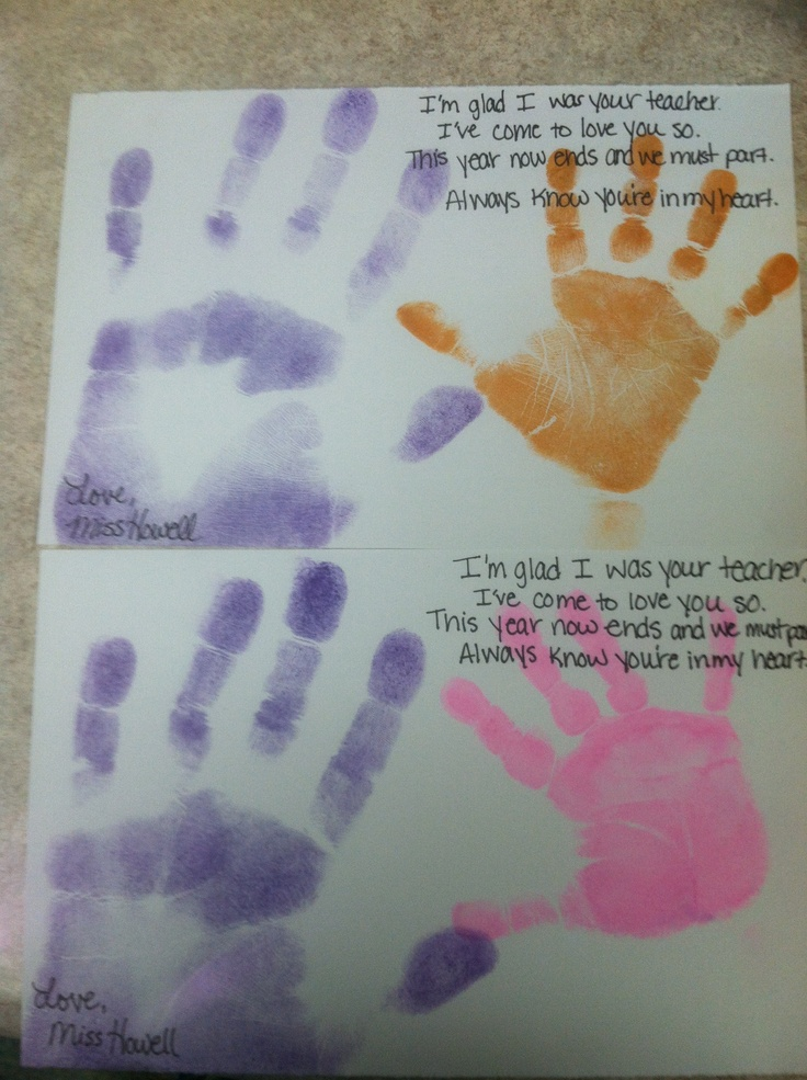 handprints poem for father's day