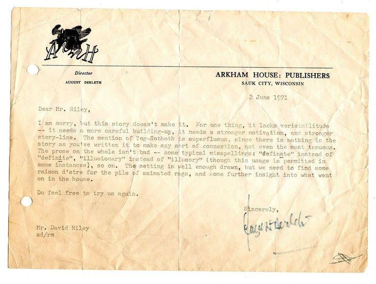 Best August Derleth Signatures  Inscriptions Images On