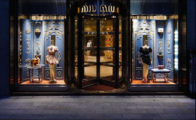 Miu Miu store front in Ginza