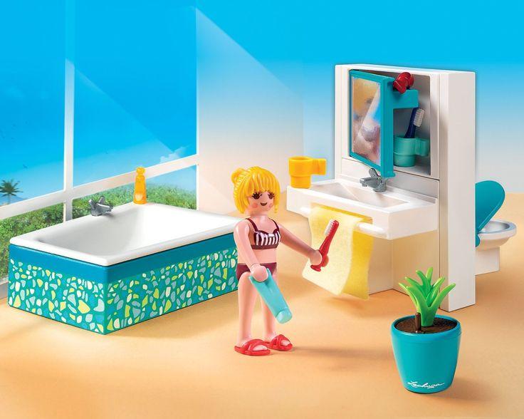 Playmobil - A1502743 - Jeu De Construction - Salle De Bain Avec Baignoire: Amazon.fr: Jeux et Jouets