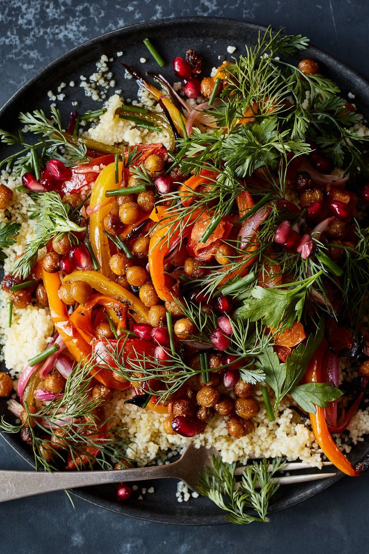 Crispy Spiced Chickpeas With Peppers And Tomatoes Recipe Recipe Spiced Chickpeas Recipes Nyt Cooking