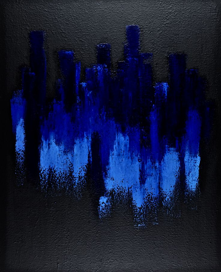 Thinking of Rising Up while in Reality You Are Falling Down - minimal abstract art by contemporary painter Jacek Sikora