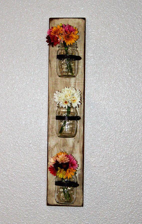 Wood Mason Jar Wall Sconce
