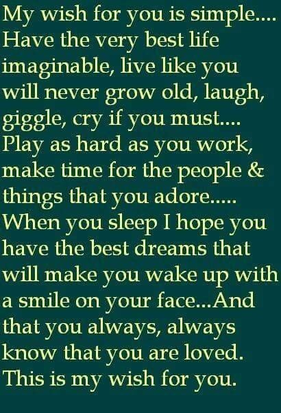 My Wish For You More Than Words Pinterest Quotes Sayings