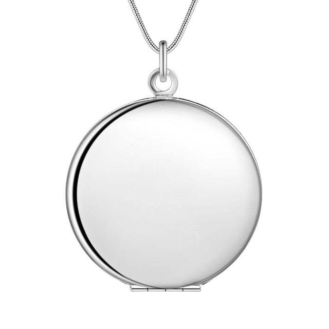 Оптовая посеребренные шарм jewelrys Ожерелье, бесплатная доставка 925 штампованные ювелирные изделия кулон Гладкие круглые карты AN740