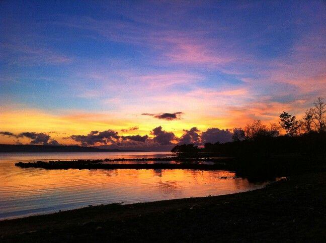 Seaside hotel beach, Samawa, Sumbawa in the morning