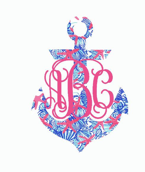 Hey, I found this really awesome Etsy listing at https://www.etsy.com/listing/236769416/lilly-pulitzer-inspired-anchor-monogram