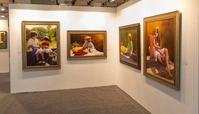 El cántabro Jose Higuera en la feria de arte Art Revolution Taipei en Taiwán