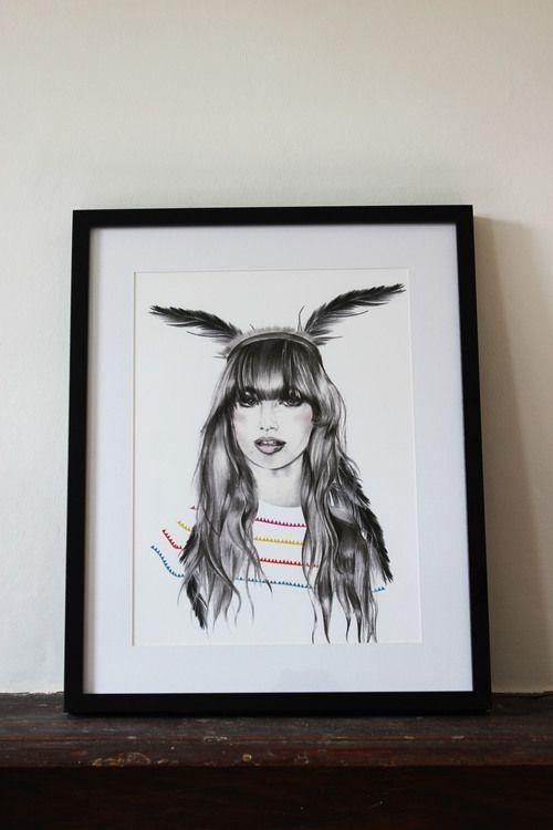 Fashion Art Print - Irish Designed - Shop at www.aprilandthebear.com