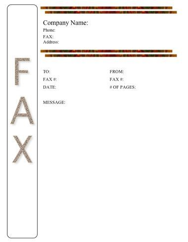Pharmacy Fax Cover Sheet Template
