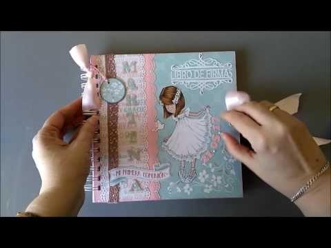Libro de firmas Scrap para primera comunión niña Dayka 2017 - YouTube