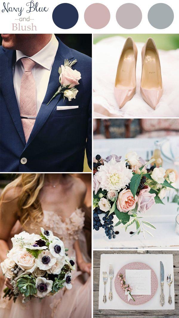 El blush y el navy blue serán algunos de los colores que reinarán en las tendencias de esta temporada. ¿Los elegirías para tu boda? #Color #Colorpalette #Colors