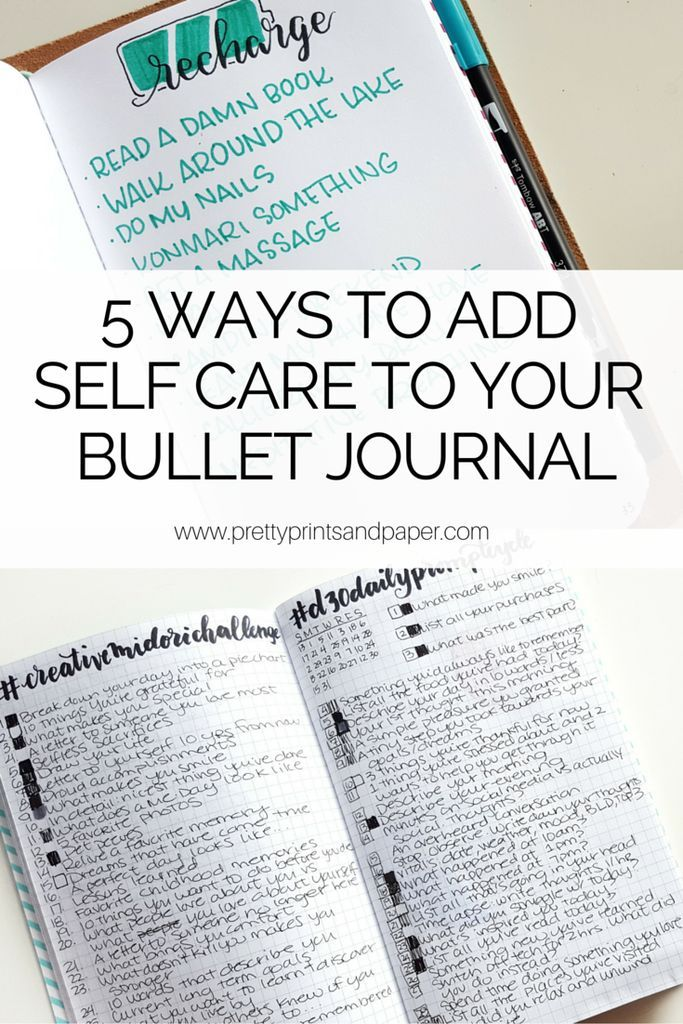 "Life can get hectic - here are 5 ways you can incorporate self-care into your bullet journal // <a href="""" rel=""nofollow"" target=""_blank"">www.prettyprintsa...</a>"