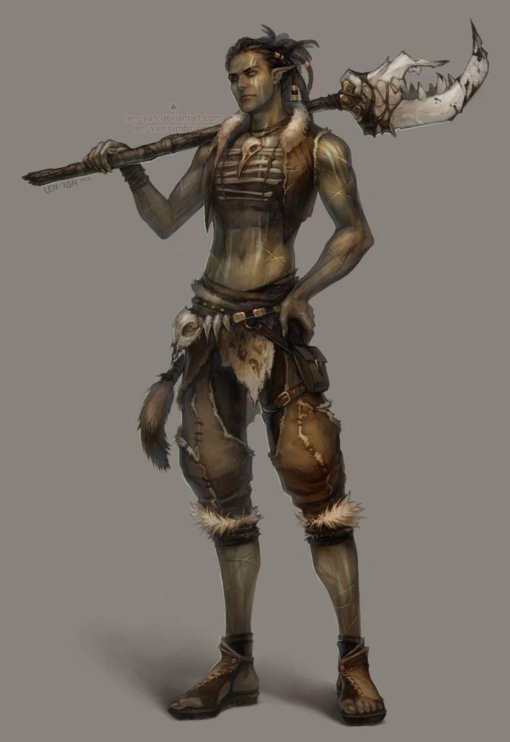 tribal warrior by len-yan.deviantart.com