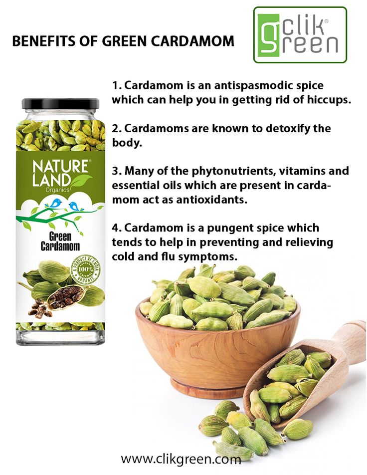 Benefits of Green Cardamom: 1. Cardamom is an antispasmodic spice which can help you in getting rid of hiccups. 2. Cardamom are known to detoxify the body. 3. Many of the phytonutrients, vitamins and essential oils which are present in cardamom act as antioxidants. 4. Cardamom is a pungent spice which tends to help in preventing and relieving cold and flu symptoms. #Cardamom #OrganicSpice #Antioxidants #Vitamins #OrganicFood
